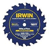 IRWIN Tools MARATHON WeldTec Circular Saw Blade, 5-3/8-inch, 18T (4935203) (Tamaño: 5-3/8