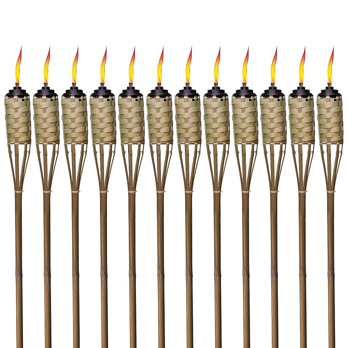 TIKI Brand 57-Inch Luau Bamboo Torches - 12 pack