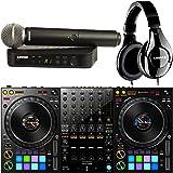 Pioneer DDJ-1000 4-Channel DJ Controller for Rekordbox Dj with Shure Wireless SM58 Microphone and Headphones
