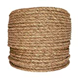 SGT KNOTS Manila Rope | Size 1/4-3 inch | Length 10-1200 ft | Tan Rope/Brown Rope - Twisted Manila 3 Strand Natural Fiber Cord | Ropes for Indoor and Outdoor Use | 1/2 inch x 300 feet (Tamaño: 1/2 in x 300 ft)
