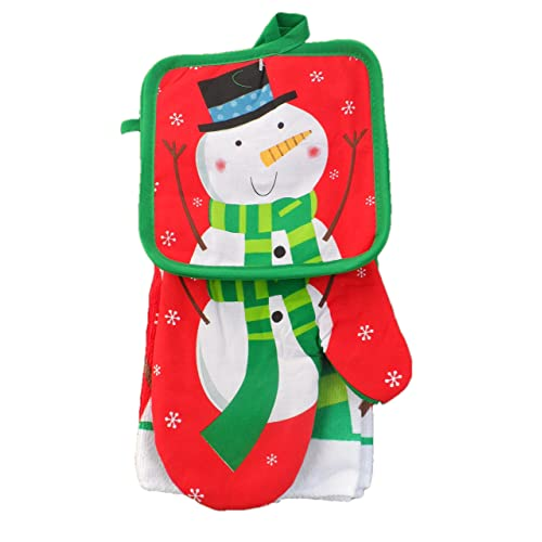 Christmas Themed Kitchen Towels 5 Piece Set Frosty Snowman