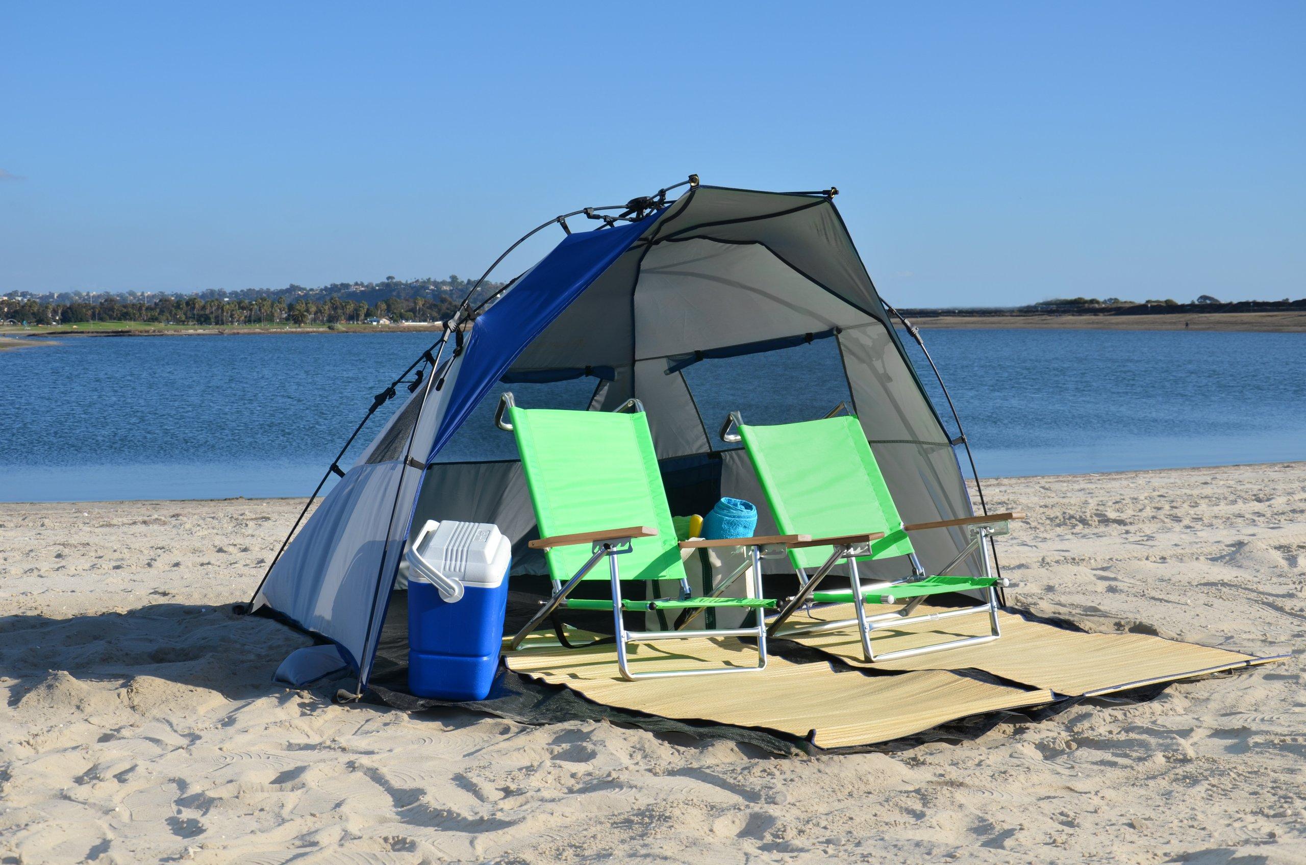 Lightspeed Outdoors Quick Cabana Beach Tent Sun Shelter, Blue