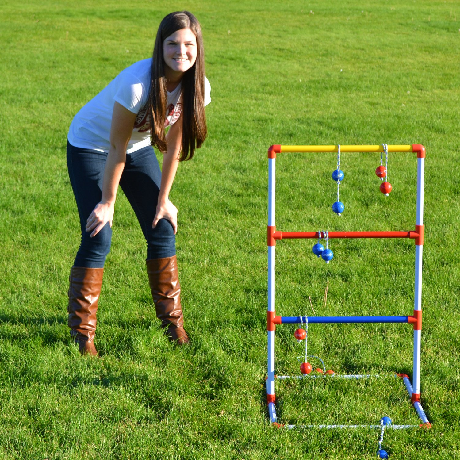 Sports tailgating go pong premium ladder golf balls toss for Gardening tools 94 game answers