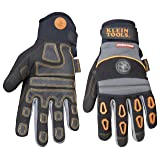 Klein Tools 40040 Journeyman Pro Heavy-Duty Protection Gloves, X-Large (Color: Black|Blacks, Tamaño: X-Large)