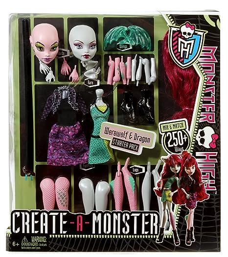 Monster High Create A Monster Werewolf Dragon