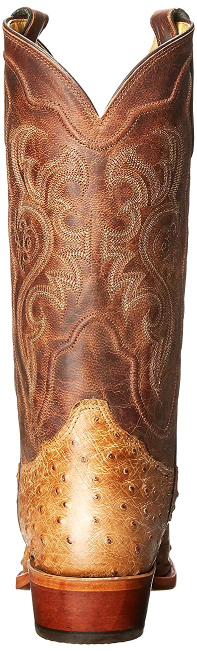 Tony Lama Men's Antique Tan Vintage FQ Ostrich Western Boot 2