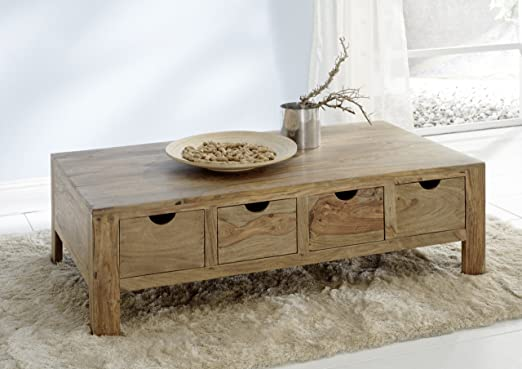YOGA 6555 Couchtisch, Holz, 75 x 135 x 40 cm, natur