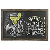 Vintage Wall Mounted Brown Wood Framed Chalkboard Sign / Retail & Cafe Menu Board - 36 x 24 (Color: Dark Brown, Tamaño: L)