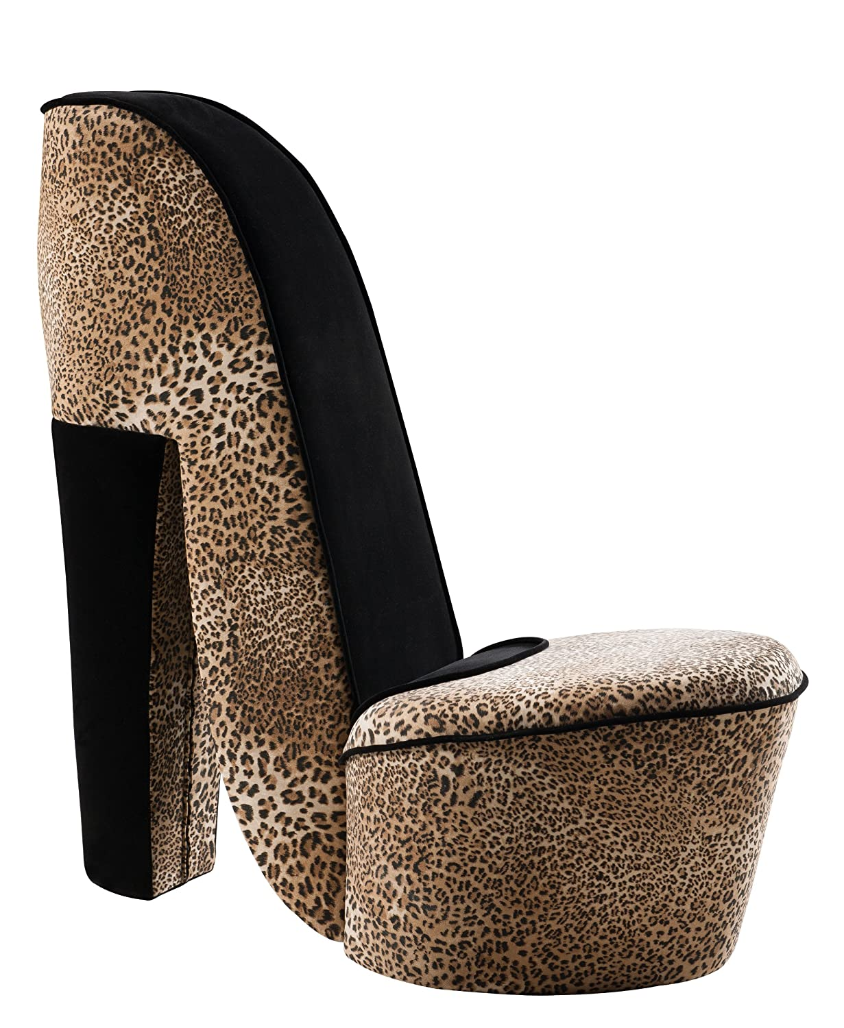 brand leopard design fabric high heel accent shoe