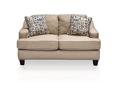Furniture of America Sabina Rez Love Seat, Tan
