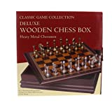 Mozlly Multipack - Classical Game Collection Metal Chess Set with Deluxe Wood Board and Storage - 2.5 inch King Boardgame (Pack of 3) - Item #S119011_X3