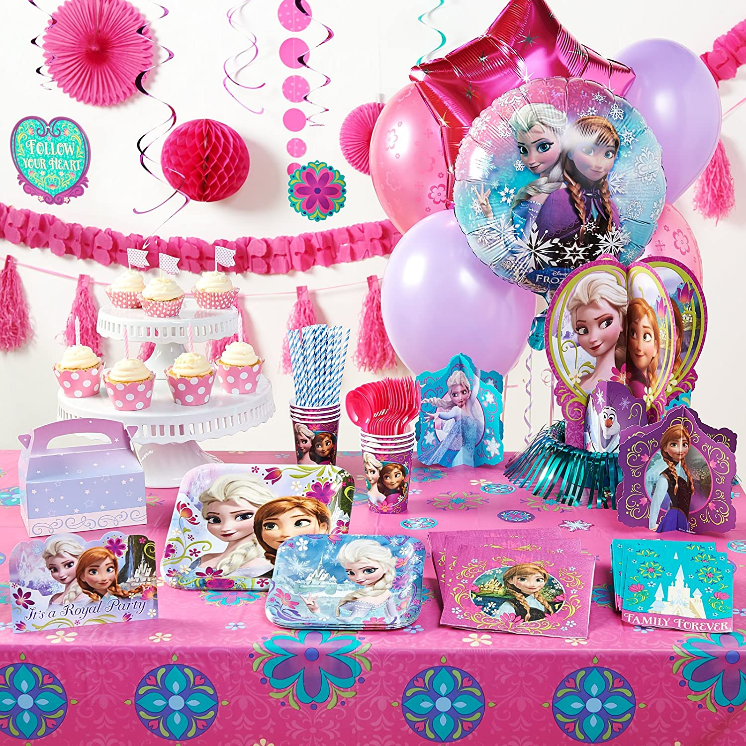 Have the coolest party with this Frozen product! (16) dinner and dessert plates 9-oz. paper cups forks and spoons invitations empty favor boxes ...  sc 1 st  Birthday Girls Wikii - Blogger & Frozen Birthday Party Kits | Birthday Girls Wikii