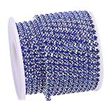 KAOYOO 10 Yards Rhinestone Beaded Chain Trim with Sapphire Beads SS16/4.0mm/0.16