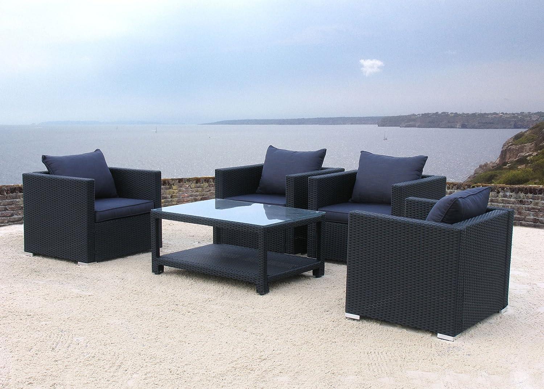 Lounge Set Pepe Schwarz 13tlg