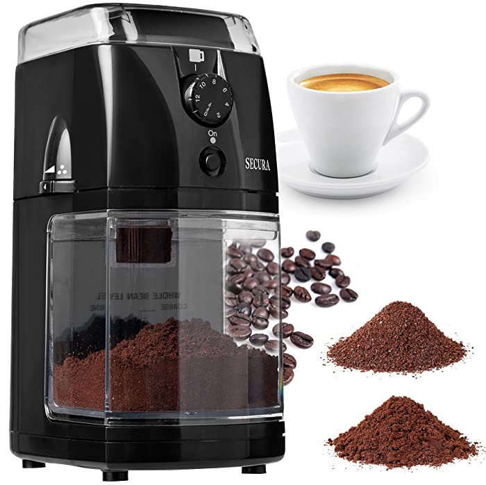 Secura SCG-903B Automatic Electric Burr Coffee Grinder Mill Via Amazon