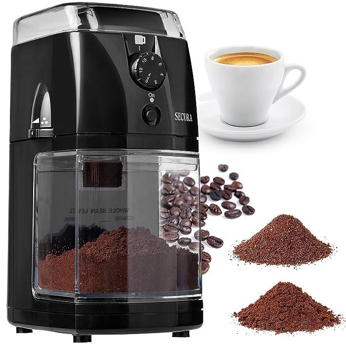 Secura SCG-903B Automatic Electric Burr Coffee Grinder Mill Via Amazon