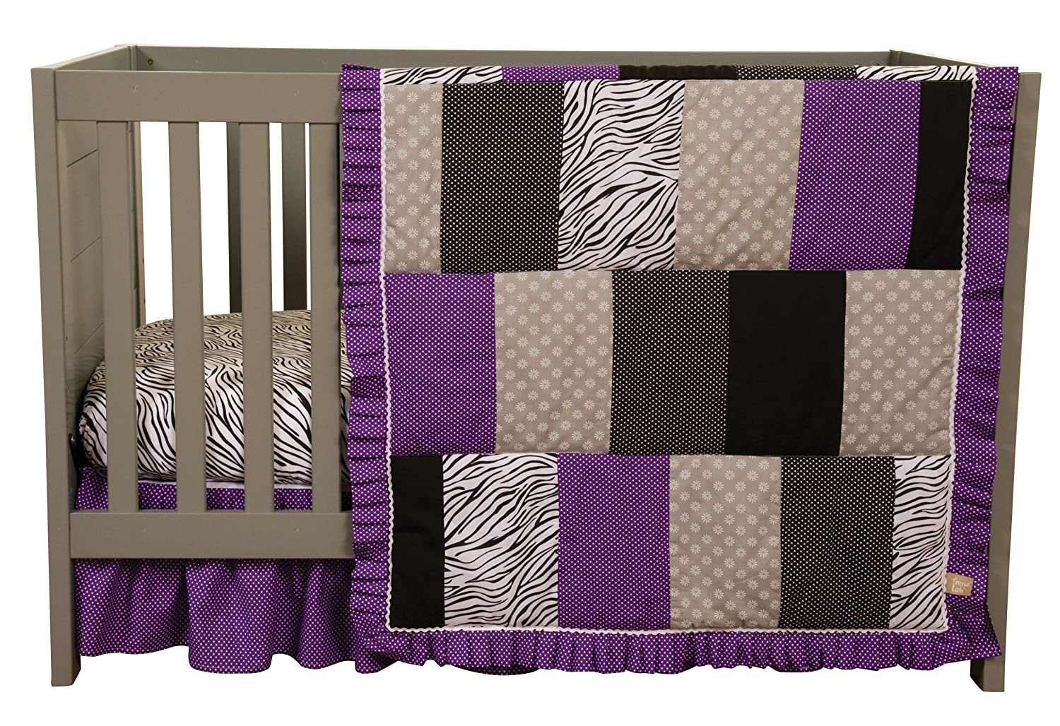 Zebra Purple Crib Bedding
