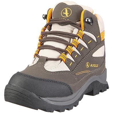 Aigle Wimbe Wp, Chaussures à lacets mixte enfant Marron