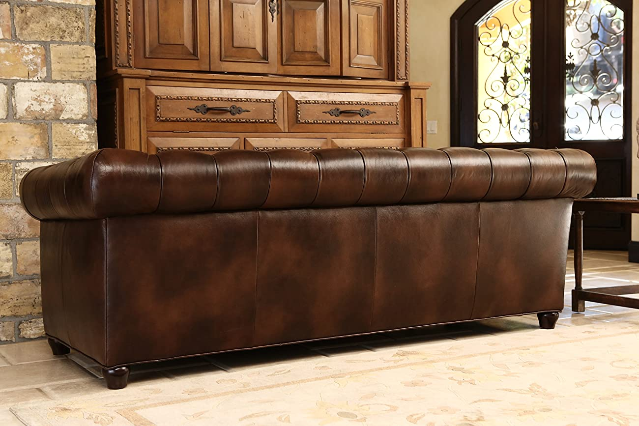 Abbyson Living Foyer Premium Italian Leather Sofa 2
