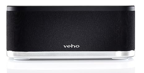 Veho Mimi X3 Enceinte 2.1 sans fil avec émetteur USB PC/Mac 30 broches émetteur/Récepteur pour iDevices/Quais 18W WiFi Noir