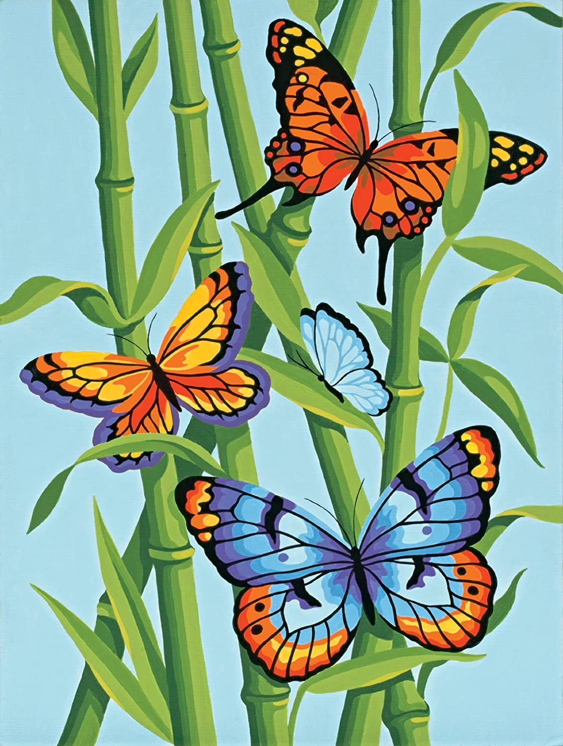Dimensions Paintworks Paint By Number, Butterflies And Bamboo