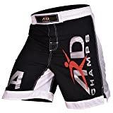 ARD New Extreme MMA Fight Shorts UFC Cage Fight Grappling Muay Thai Boxing Black (Large) (Color: Black, Tamaño: Large)