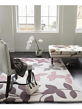 nuta tapis de salon salon moderne harlequin vine pas cher marron marron 120x180 cm. Black Bedroom Furniture Sets. Home Design Ideas