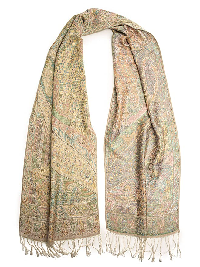 1920s Style Wraps Paisley Traditional Jacquard Scarf $28.95 AT vintagedancer.com