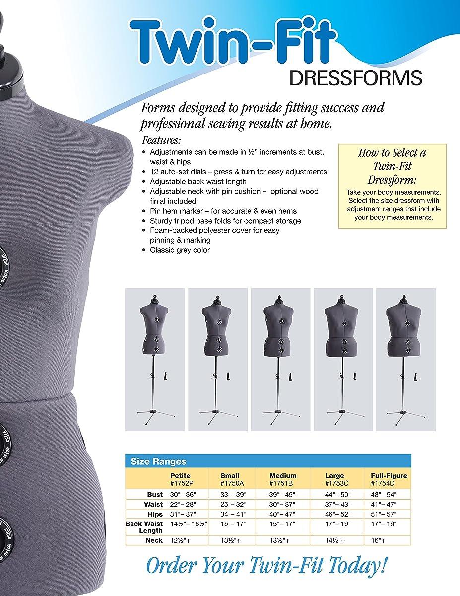 Dritz Twin-Fit Dress Form, Small