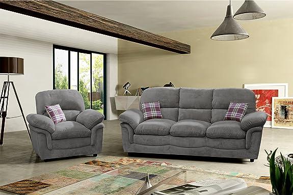 Lovesofas Verona 3+ 1+ 1posti tessuto divani–grigio