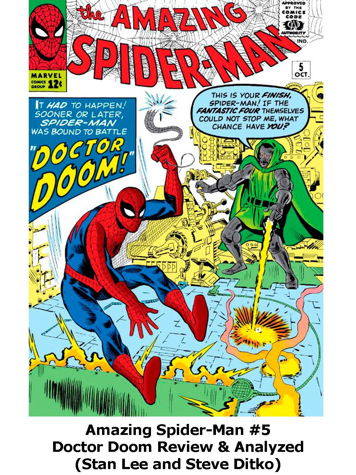 Review: Amazing Spider-Man #5 Doctor Doom Review & Analyzed (Stan Lee and Steve Ditko)