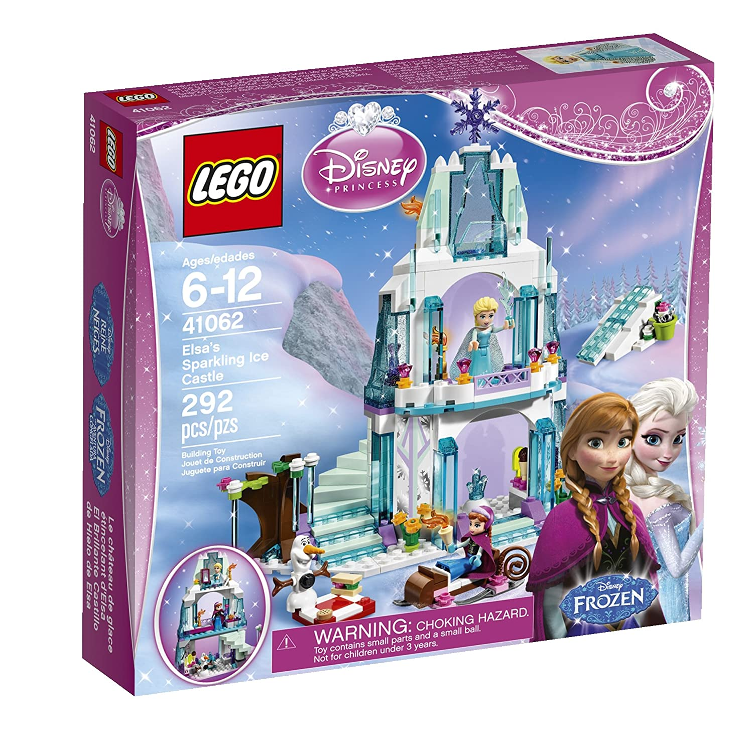 Elsa Sparkling Ice Castle Lego Set with Secret Staircase and Sleigh