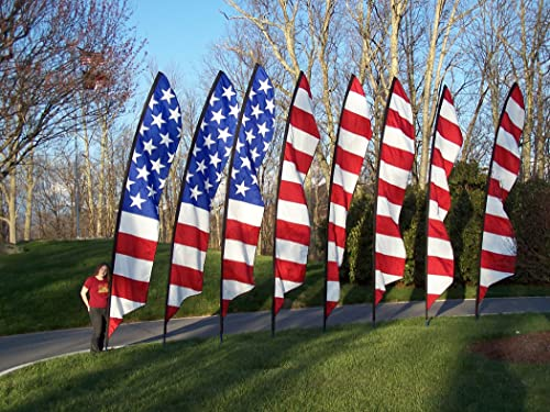 American Flag Outdoor Banner Set