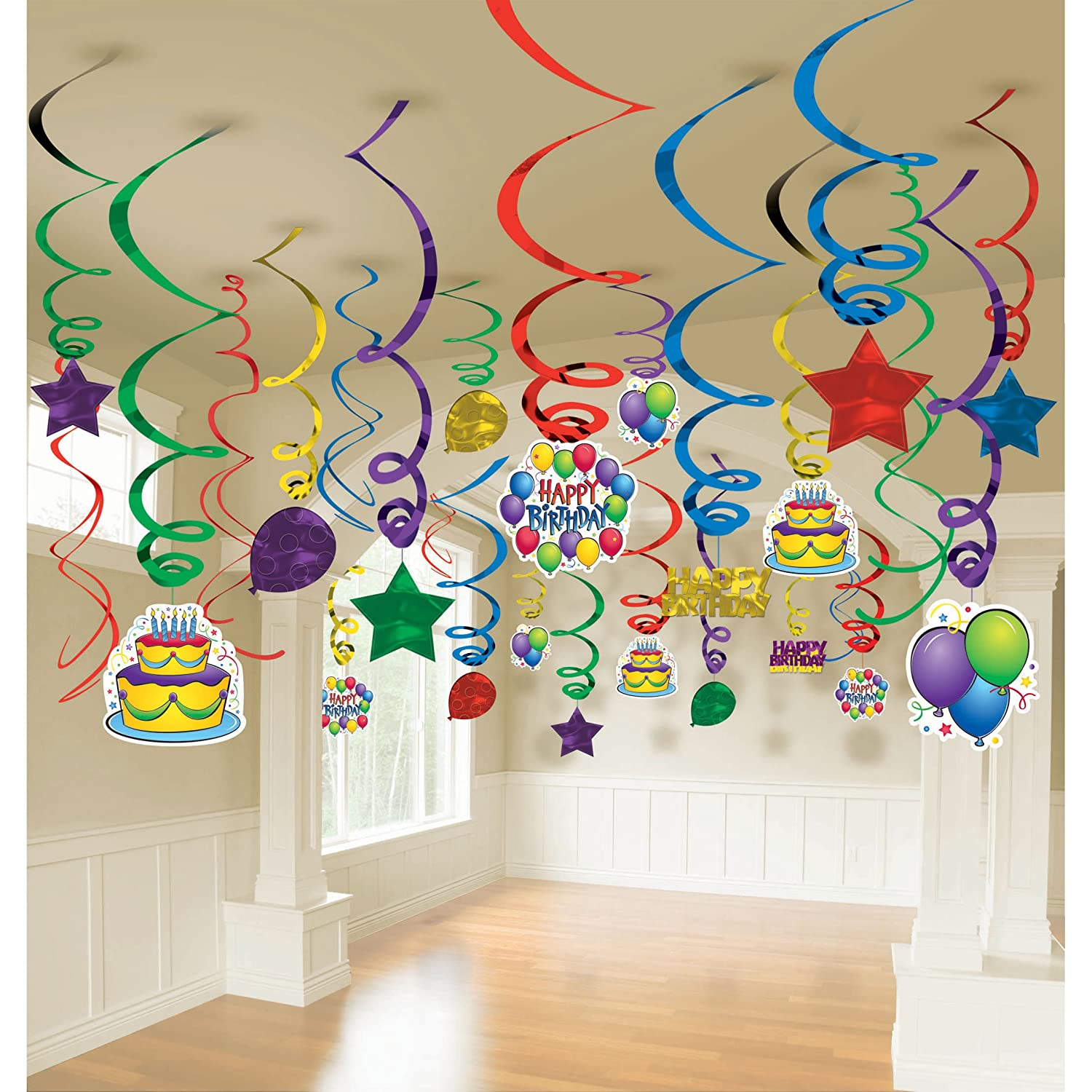 Balloon Fun Mega Value Pack Swirl Decorations 50 Party Supplies Amazon In Toys Games