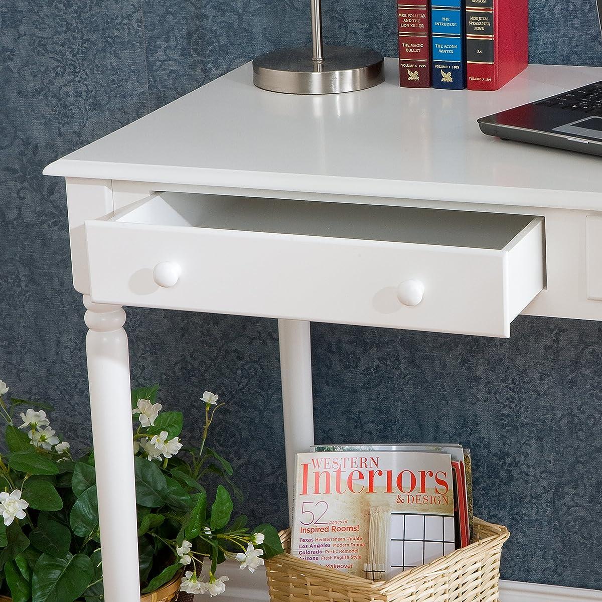 Writing 2-Drawer Desk - Crisp White