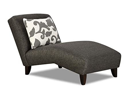 Chelsea Home Furniture Mason Chaise, Stoked Ash with Sweet Pea Onyx Pillow