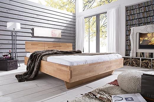 massivholzbett Trento, cama doble núcleo de maciza haya nuevo OVP todos los tamaños inmediatamente disponible, madera, Wildeiche, 140 x 200