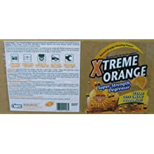 Xtreme Orange XOSD-128 128 Oz. Super Strength Degreaser (Case of 4)
