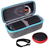 Case Compatible with JBL Flip 3 Flip 4 Bluetooth Speaker by SKYNEW,Light Grey (Color: Light Grey)