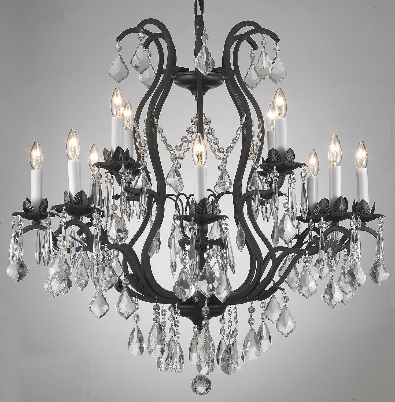 Schmiedeeisen Kristallleuchter Kronleuchter Beleuchtung Deckenleuchte Lampe Aufhängevorrichtung 230 H 76,20 cm x 71,10 cm W