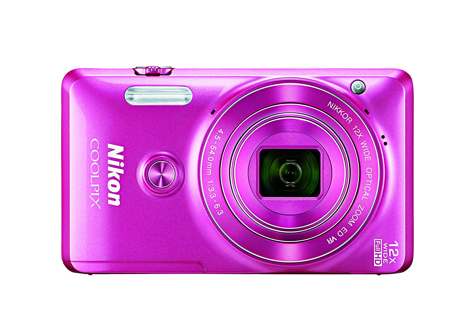 Nikon COOLPIX S6900 Digital Camera with 12x Optical Zoom and Built-In Wi-Fi (Pink)