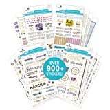 Paper House Productions SET0015 Creative Journaling Sticker Bundle includes 16 Sheets 4 Themes, Over 900 Stickers