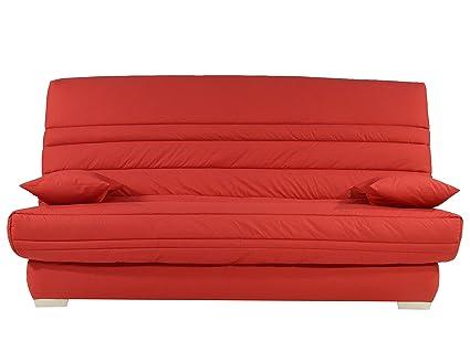 Banquette GSHAU30MA455 Shaula Canapé Clic-Clac Tissu Rouge 193 x 95 x 101 cm