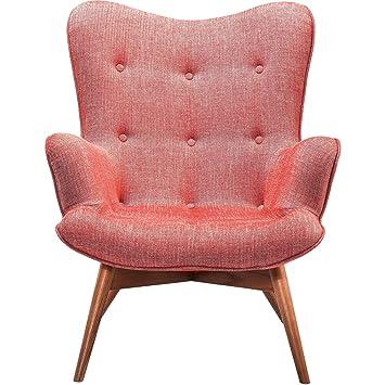 Kare Design sillón Textil rojo con reposabrazos Retro Angels Wings Rhythm carmines
