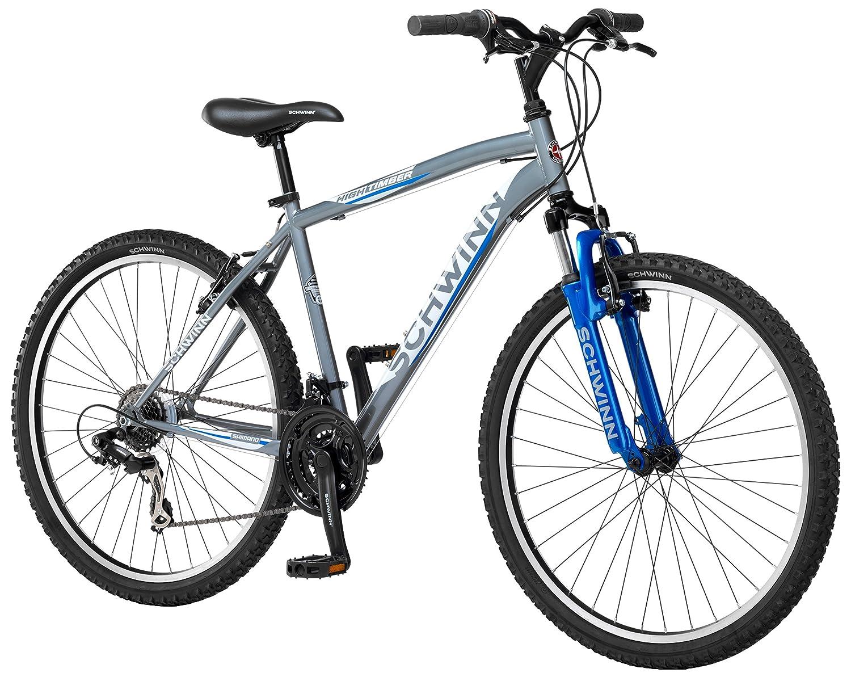 Schwinn Men's High Timber Mountain Bike, Grey, Medium