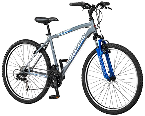Schwinn Men's High Timber Mountain Bike, Grey, Medium