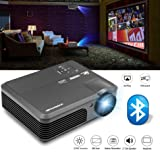 Wireless Android Phone Projector Support Wifi Bluetooth Airplay Miracast WXGA 3200 Lumens, Multimedia HD LED LCD Projector 1080p, Home Theater Projector Indoor Outdoor Movie Gaming TV Party Photo (Color: WiFi Bluetooth Projector/ 3200 Lumens)