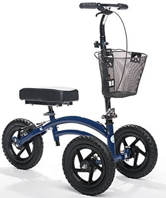 All Terrain KneeRover Steerable Knee Scooter Blue