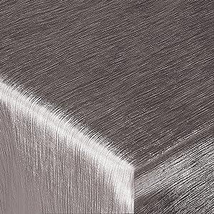 Festliche Wachstischdecke Texture | zinnfarben glänzend | abwaschbar | Meterware (2000x137cm)  BaumarktKundenbewertung: