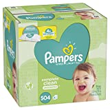 Pampers Baby Wipes Complete Clean Unscented 7X Refills, 504 Count (Tamaño: 7 Refill Packs, 504 Count)